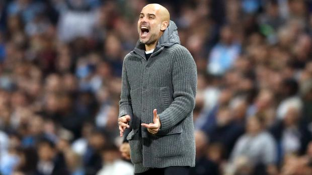 Pep Guardiola's Manchester City face a crucial derby at Old Trafford (Martin Rickett/PA)