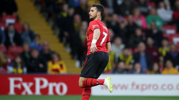 Shane Long scores Southampton's opening goal at Watford – the fastest goal in Premier League history (Adam Davy/PA)