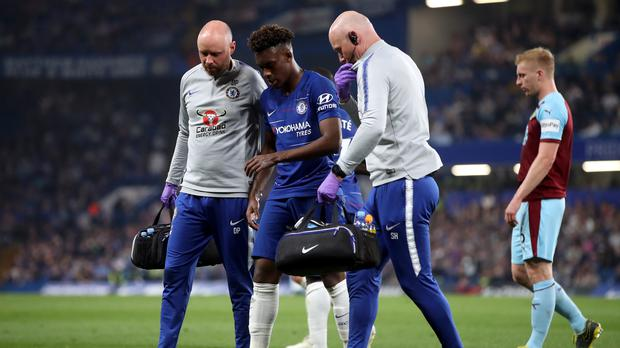 Chelsea winger Callum Hudson-Odoi will now miss the rest of the season (Adam Davy/PA)