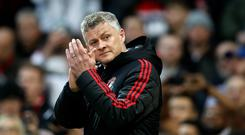 Ole Gunnar Solskjaer remains optimistic of a top-four finish (Martin Rickett/PA)