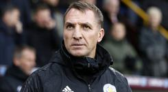 Leicester manager Brendan Rodgers believes Liverpool boss Jurgen Klopp will continue to pay his rent even if Leicester lose at title rivals Manchester City (Martin Rickett/PA)