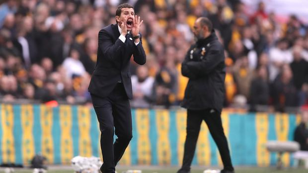 Watford manager Javi Gracia, left, went head to head with Wolves in the FA Cup semi-final at Wembley (PA)
