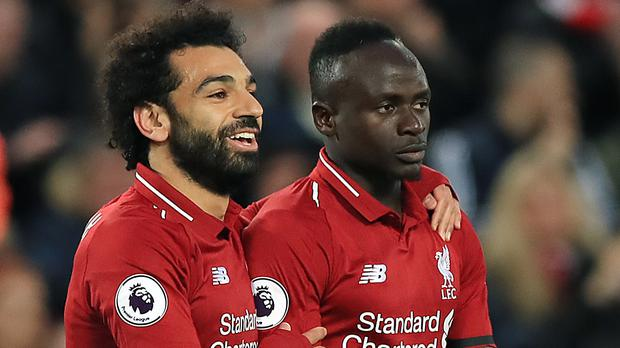 Liverpool's Mohamed Salah and Sadio Mane