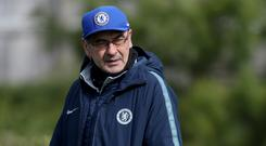 Chelsea's Maurizio Sarri thinks he can close the gap to Liverpool and Manchester City in two seasons (Bradley Collyer/PA)