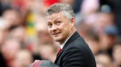 Manchester United manager Ole Gunnar Solskjaer, pictured, refused to be too critical of David De Gea (Martin Rickett/PA)