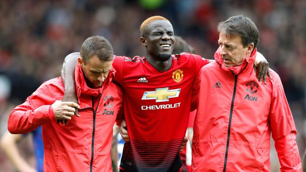 Eric Bailly is facing another spell on the sidelines (Martin Rickett/PA)