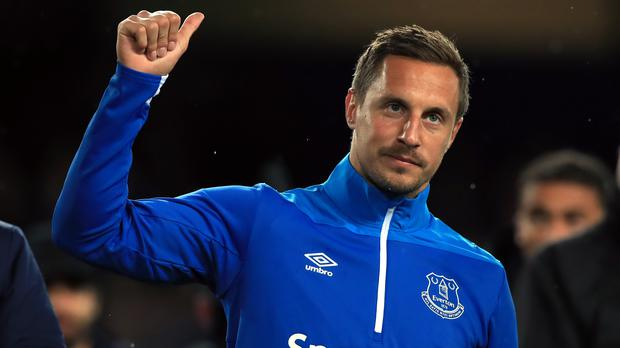 Phil Jagielka made what could turn out to be his final Everton appearance against Burnley (Peter Byrne/PA)