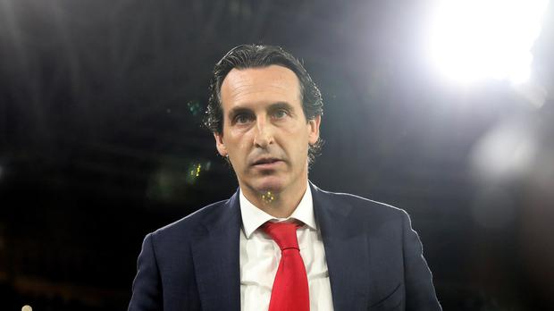 Arsenal manager Unai Emery know his side's top-four hopes are as good as over (Steven Paston/PA).