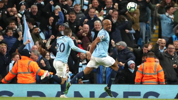 Vincent Kompany underlined his immense worth to Manchester City with a vital winner against Leicester (Nick Potts/PA)