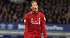 Virgil Van Dijk thinks Liverpool have rediscovered their fear factor across Europe (Peter Byrne/PA)