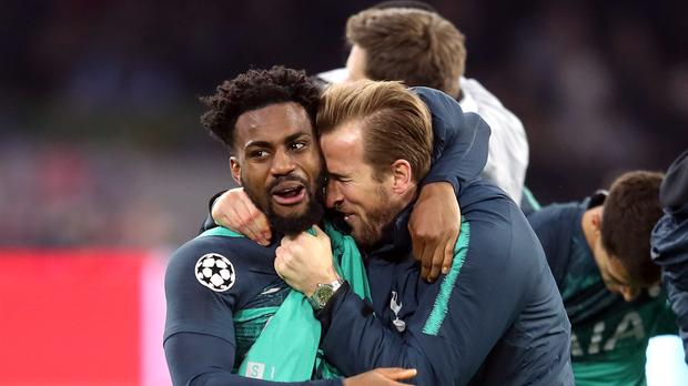 Danny Rose, left, helped Tottenham reach the Champions League final (Adam Davy/PA)