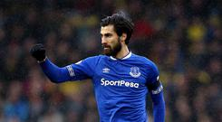 Everton midfielder Andre Gomes has been linked with a move to Sunday's opponents Tottenham (Nigel French/PA)