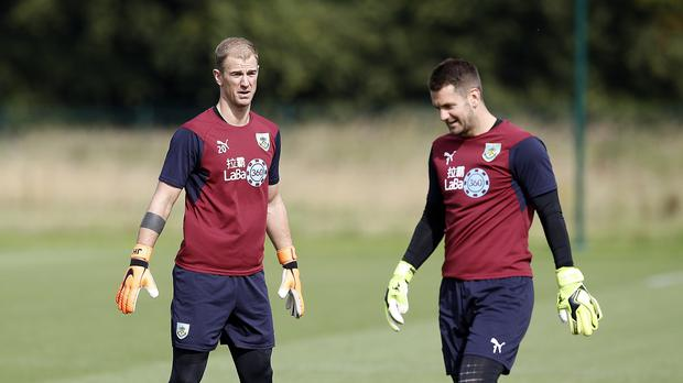 Joe Hart, left, and Tom Heaton are two of Burnley's first-team goalkeepers (Martin Rickett/PA)