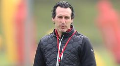 Arsenal manager Unai Emery gave his players a day off on Friday ahead of the final day of the Premier League season (Nigel French/PA)