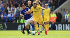 Chelsea's Gonzalo Higuain missed the best chance of the game against Leicester (Mike Egerton/PA)