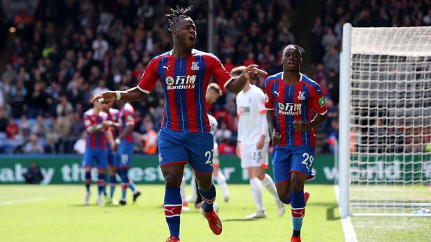 Michy Batshuayi, left, will be a summer target for Crystal Palace (Bradley Collyer/PA)