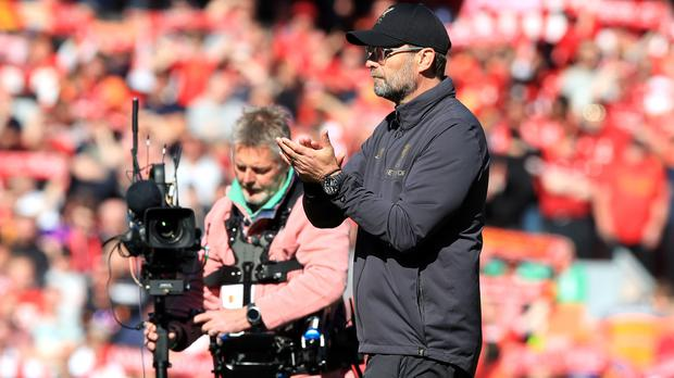Jurgen Klopp said he was proud of his side's efforts depite missing out on the title (Peter Byrne/PA)