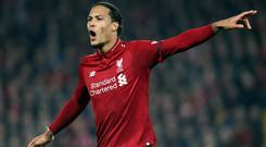 Virgil Van Dijk is targeting Champions League glory after missing out on the Premier League title (Richard Sellers/PA)