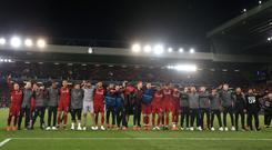 Liverpool's former players believe the club, after finishing with a record points haul for Premier League runners-up and with a second successive Champions League final to come, are well-placed for success (Peter Byrne/PA)