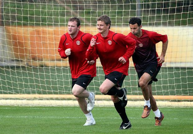Wayne Rooney was team-mates with Ole Gunnar Solskjaer (Martin Rickett/PA)
