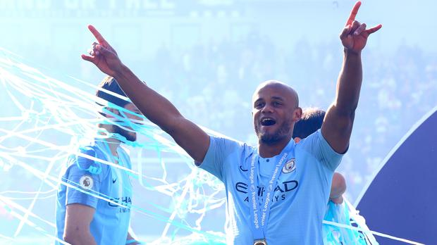 Current Manchester City players said their thanks to Vincent Kompany after he announced his departure from the club (Gareth Fuller/PA)