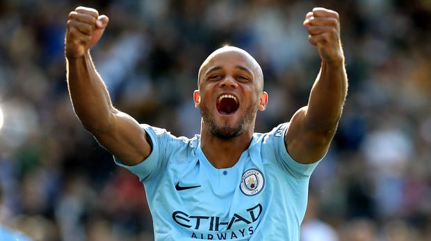Vincent Kompany, who is leaving Manchester City to take over as Anderlecht's player-manager (Nick Potts/PA)