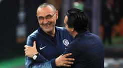 Chelsea manager Maurizio Sarri's future remains uncertain amid talk of a return to Italy at Juventus (Bradley Collyer/PA)