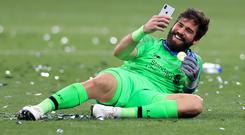 Liverpool goalkeeper Alisson Becker has already proved himself to be one of the best in the world (Mike Egerton/PA)
