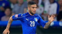 Lorenzo Insigne would be unhappy if former Napoli manager Maurizio Sarri joined Juventus. (John Walton/PA)