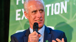 Mick McCarthy finds his team at the top of the group. Photo: Sportsfile