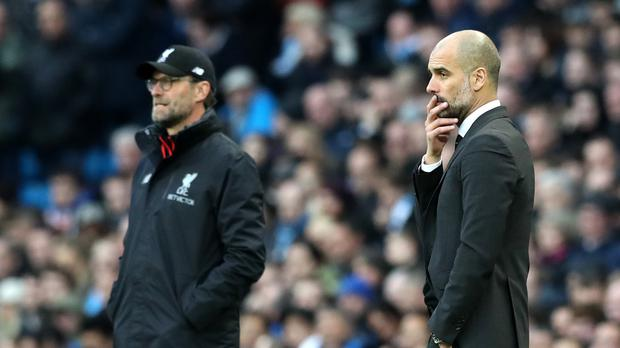 Jurgen Klopp and Pep Guardiola now know how the fixtures will fall (Martin Rickett/PA)