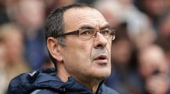 Maurizio Sarri looks to be heading out of Chelsea (Adam Davy/PA)