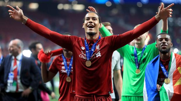 Virgil Van Dijk has been shortlisted for UEFA's Player of the Year award (Mike Egerton/PA)