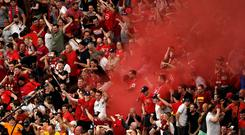 Fake tickets have been blamed for the increase in arrests of Liverpool fans in the Champions League last season (Joe Giddens/PA)