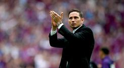 Derby hope to agree a new contract with Frank Lampard (John Walton/PA)
