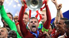Liverpool's Jordan Henderson has been offered the freedom of home city Sunderland (Mike Egerton/PA)