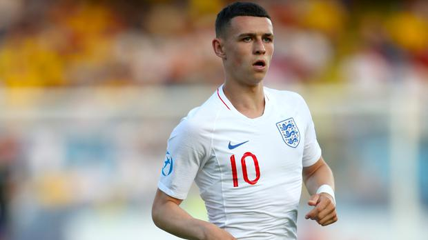 Phil Foden started the crucial defeat to Romania on the bench (Nick Potts/PA)