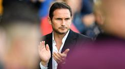 Derby boss Frank Lampard is to hold talks with Chelsea (Simon Galloway/PA)