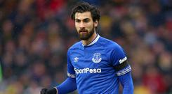Andre Gomes has completed a permanent move to Everton (Nigel French/PA)