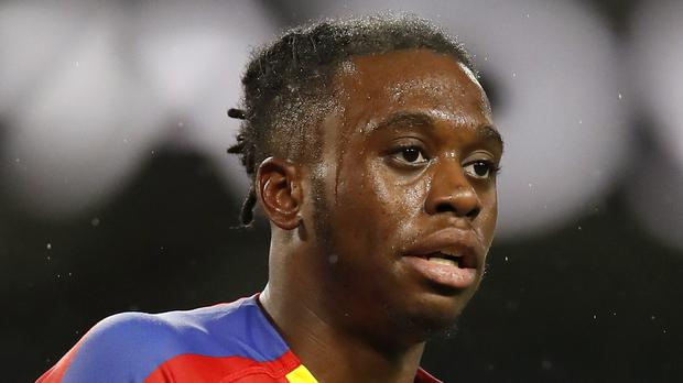 Crystal Palace's Aaron Wan-Bissaka is head to the north west (Martin Rickett/PA)