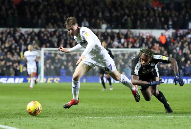 Leeds United winger Jack Clarke is set to become Tottenham Hotspur's first signing since January 2018. Photo: PA