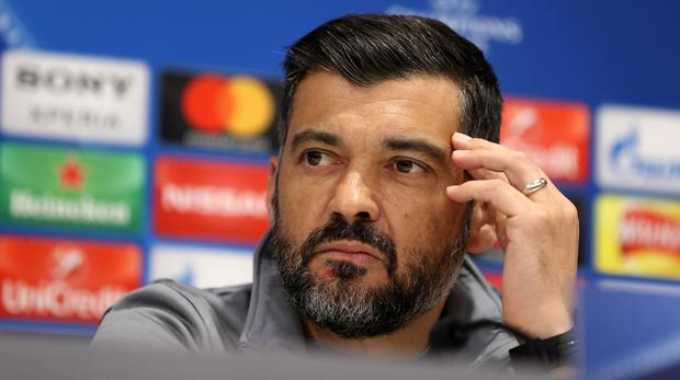 Porto manager Sergio Conceicao could be in the running for the Newcastle job (Martin Rickett/PA)