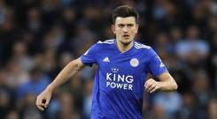 Leicester City want £90million for Harry Maguire