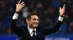 Frank Lampard remained a fans' favourite after his successful Chelsea playing career (Dominic Lipinski/PA)