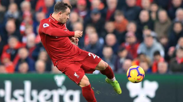 Liverpool forward Xherdan Shaqiri is facing a race to be fit for the start of the season (Peter Byrne/PA)