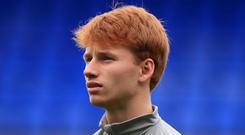 Sepp Van Den Berg will have to wait longer for his Liverpool debut (Peter Byrne/PA)