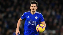 Is Leicester's Harry Maguire about to join Manchester United? (Mike Egerton/PA)