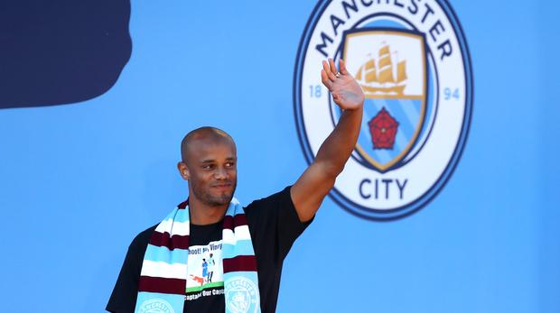 Vincent Kompany gave an emotional speech to team-mates before leaving Manchester City (Nick Potts/PA)
