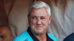 Steve Bruce has taken his first training session as Newcastle head coach (David Davies/PA)