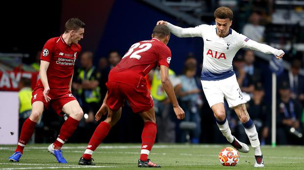 Dele Alli (right) is still hurting after falling at the last hurdle in the Champions League final (Martin Rickett/PA)